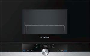 Siemens BE634LGS1 Einbau-Mikrowelle edelstahl f.60cm breite u.38cm hohe Hänge-und Hochschränke Linksanschlag