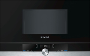 Siemens BF634LGS1 Einbau-Mikrowelle edelstahl f.60cm breite u.38cm hohe Hänge-und Hochschränke Linksanschlag