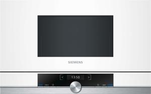 Siemens BF634LGW1 Einbau-Mikrowelle weiß f.60cm breite u.38cm hohe Hänge-und Hochschränke Linksanschlag