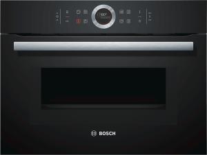 Bosch CMG633BB1 Kompaktbackofen mit Mikrowelle 45cm schwarz