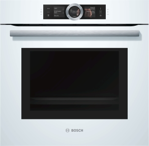 Bosch HNG6764W6 Einbaubackofen weiß mit Mikrowelle u.Dampfstoß Pyrolyse