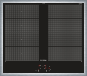 Siemens EY645CXB1E Edelstahl 60 cm Induktions-Kochfeld, Glaskeramik herdgebunden