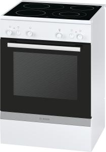Bosch HCA722220 Standherd 60cm weiß m.Glaskeramik-Kochfeld