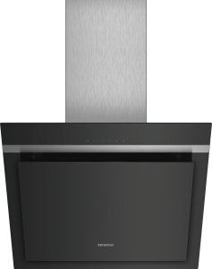 Siemens LC67KHM60 Schwarz mit Glasschirm Wand-Esse, 60 cm