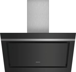 Siemens LC87KIM60 Schwarz mit Glasschirm Wand-Esse, 80 cm