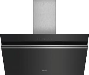 Siemens LC91KWP60Schwarz mit Glasschirm Wand-Esse, 90 cm 950m³/h Randabsaugung LED A+