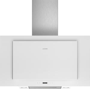 Siemens LC97FLP20Weiß mit Glasschirm Wand-Esse, 90 cm 730m³/h LED Vertikal-Design