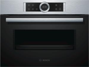 Bosch CFA634GS1 Einbau-Mikrowellengerät 45cm für Hochschrank Edelstahl LED