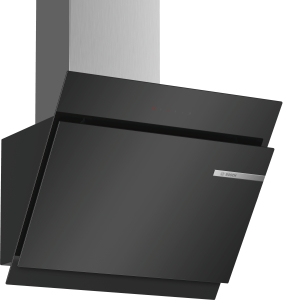 Bosch DWK67JM60Wandesse, 60 cm Schräg-Essen-Design schwarz 730 cbm/h LED-Modul A+