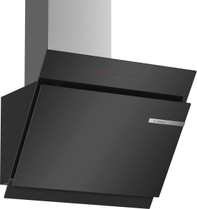 Bosch DWK67JQ60Wandesse, 60 cm Schräg-Essen-Design schwarz 730cbm/h LED-Modul PerfectAir