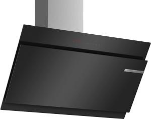 Bosch DWK97JQ60Wandesse, 90 cm Schräg-Essen-Design schwarz 730 cbm/h LED-Modul