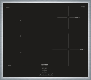 Bosch NWP645CB2EEdelstahl, umlaufender Rahmen 60 cm Induktions-Kochfeld Glaskeramik