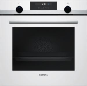 Siemens HB517ABW0Einbau-Backofen-Elektro 60cm weiß/Edelstahl 7Heizarten Knebel beleuchtet