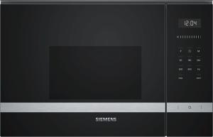 Siemens BF525LMS0 Einbau-Mikrowelle schwarz f.60cm breite u.38cm hohe Hänge-und Hochschränke Linksanschlag