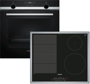 Siemens EQ522VA01Z ( EX645FEC1E, HB517ABS0 ) Backofenset Induktion 7 Heizarten LCD-DisplaycookControl10