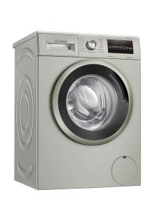 Bosch WAN282X0 Waschmaschine, Frontlader, 7 kg, silber-inox, 1400 U/min, EcoSilence Drive + AllergyPlus