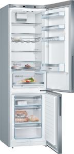 Bosch KGE39ALCA Stand Kühl-Gefrier-Kombination mit Edelstahl-Optik, LowFrost SuperKühlen und LED EEK: A+++