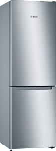 Bosch KGN33NLEB Freistehende Kühl-Gefrier-Kombination , NoFrost und FreshSense - Edelstahloptik
