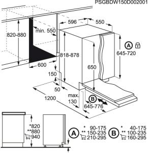 AEG FSB53617Z Geschirrspüler vollintegrierbar 60 cm QuickSelectAirDryBeamOnFloor