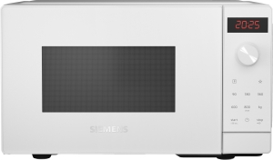 Siemens FF023LMW0 Stand Mikrowelle weiß 800 WcookControl7 humidClean LED Display Favoritentaste quickStart