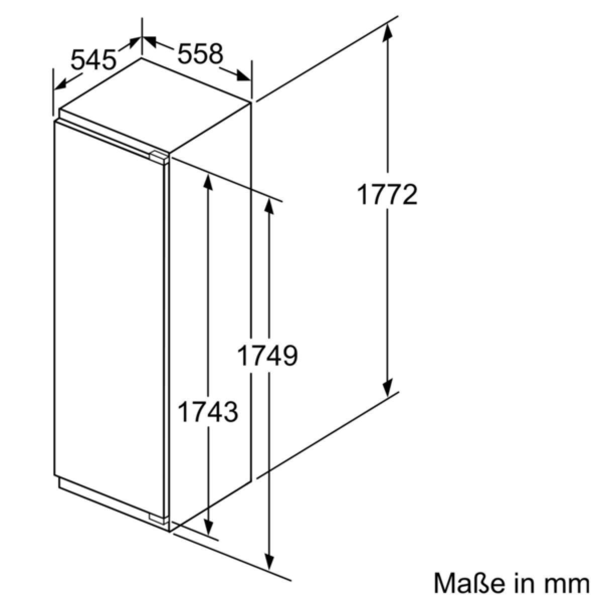 siemens ki 82 lad 40 einbauk hlschrank 178cm mit gefrierfach 34ltr softclosing led hyperfresh. Black Bedroom Furniture Sets. Home Design Ideas