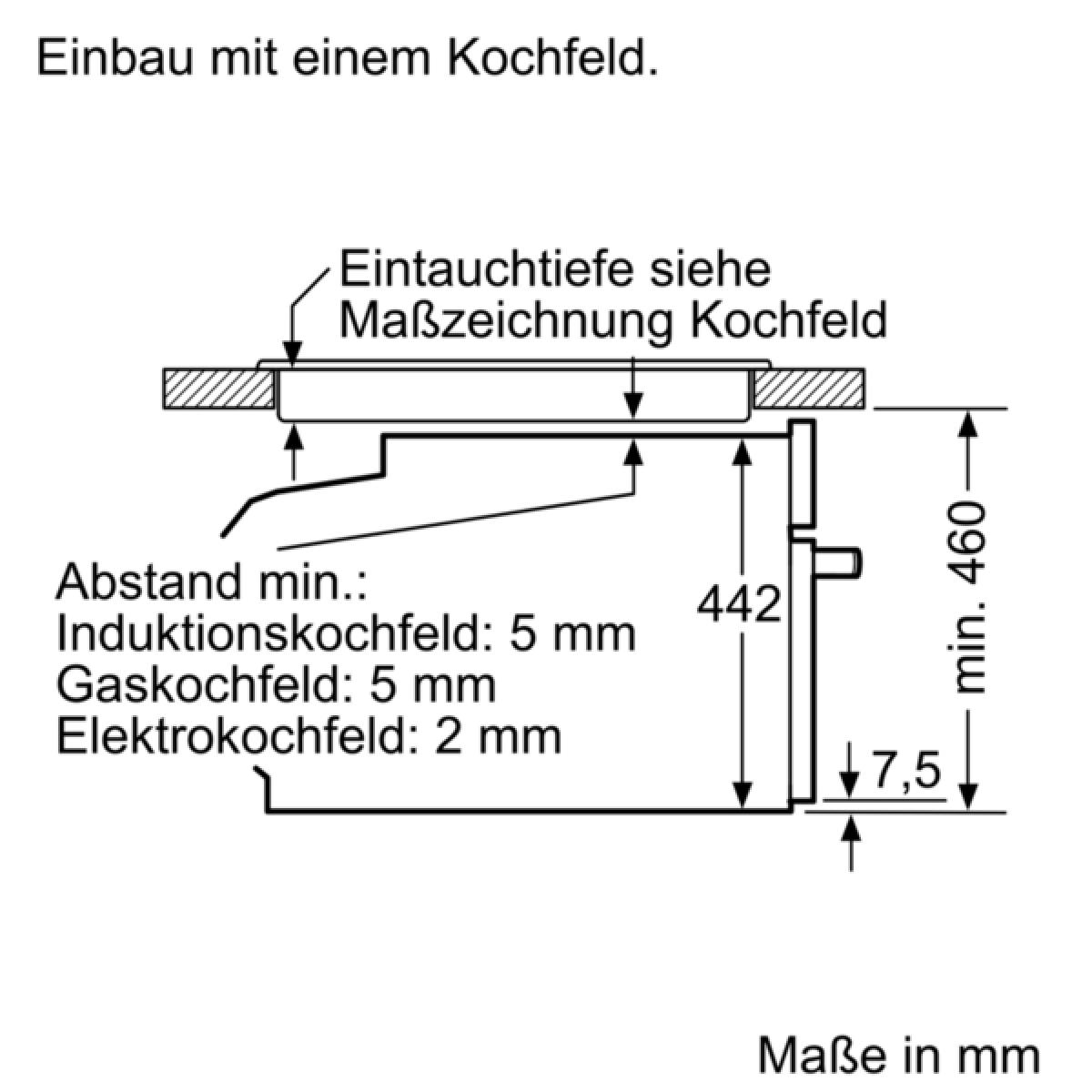 Siemens CM636GNS1 Einbau Backofen mit Mikrowelle 45cm hoch