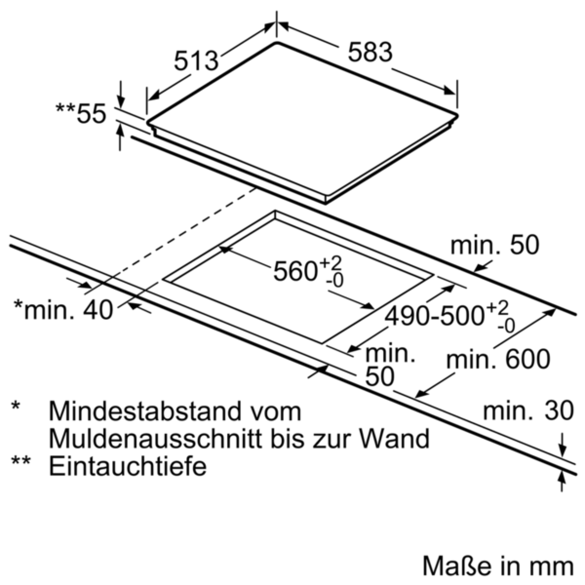 bosch hnd616ls60 set hea5174s1 nwp645cb2e g nstig kaufen. Black Bedroom Furniture Sets. Home Design Ideas