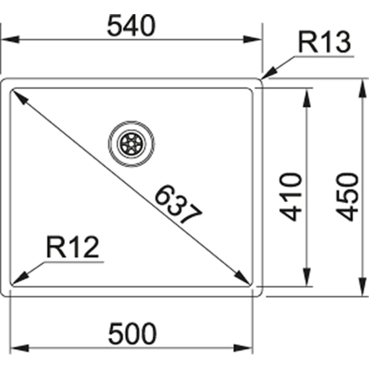 franke box bxx 210 110 50 zugknopf g nstig kaufen. Black Bedroom Furniture Sets. Home Design Ideas