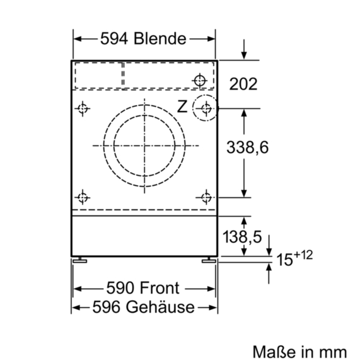 Bekannt Bosch WIW28440 Waschmaschine vollintegrierbar 8 kg EEK: A+++ FH54