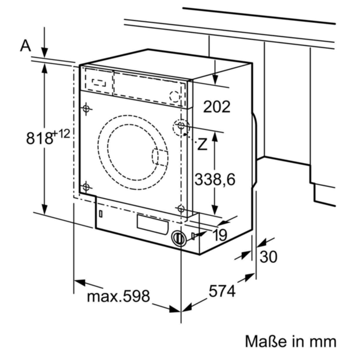 Hervorragend Bosch WIW28440 Waschmaschine vollintegrierbar 8 kg EEK: A+++ UN36