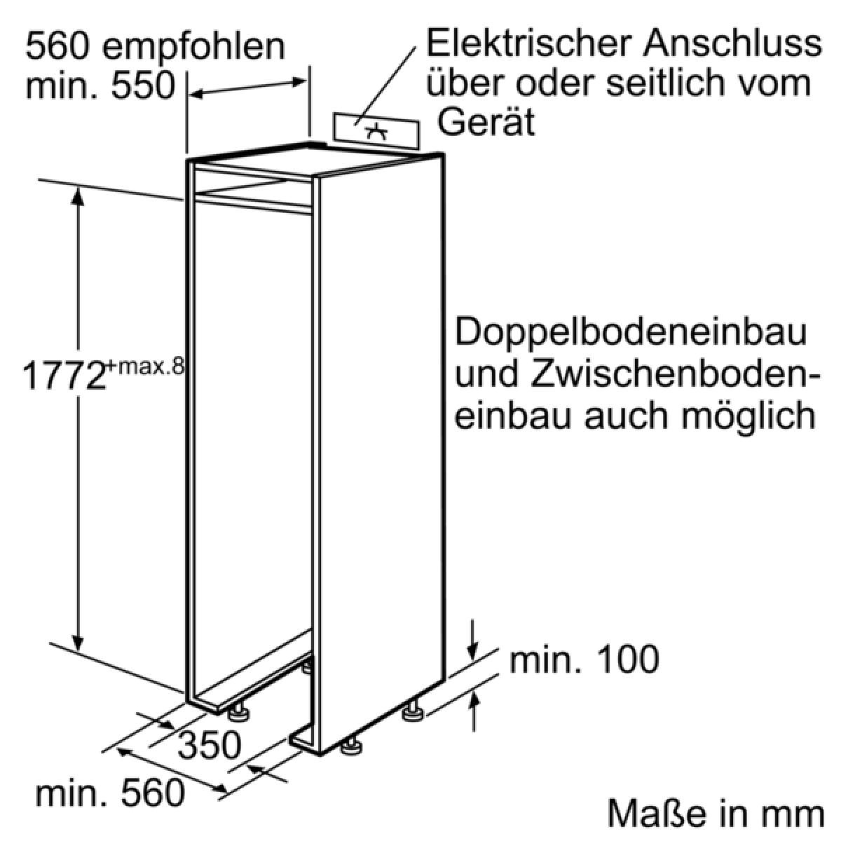 Neff K315 (K8315X0) Einbaukühlschrank 178cm FreshSafe SoftClose ...