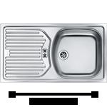 Edelstahl-Küchenspüle